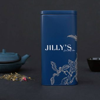 Jilly's Large Embossed Tin with tea